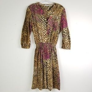 a2addb2c2f8 Eliza J Size 8 Brown Snake Print Dress 0040